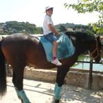 Aqui estic jo montada a un cavall