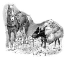 El cavall i l'ase http://educacionysolidaridad.blogspot.com.es/2011/12/fabulas-de-samaniego-las-que-todos.html